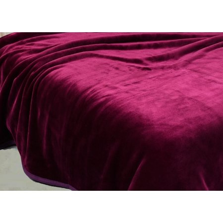 Heavy Thick One Ply Korean Style Faux Mink Blanket 9-Pound Oversized King 105x92