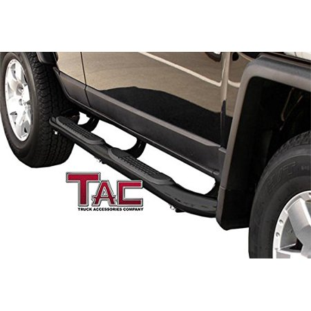 "TAC Side Steps for 2007-2014 Toyota FJ Cruiser SUV (Excludes models with the factory rock rails) 3"" Black Side Bar Nerf Bars Running Boards"