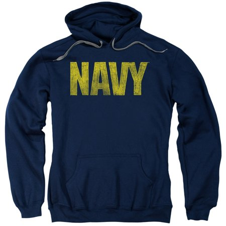- navy/logo adult pull over hoodie navy  na102