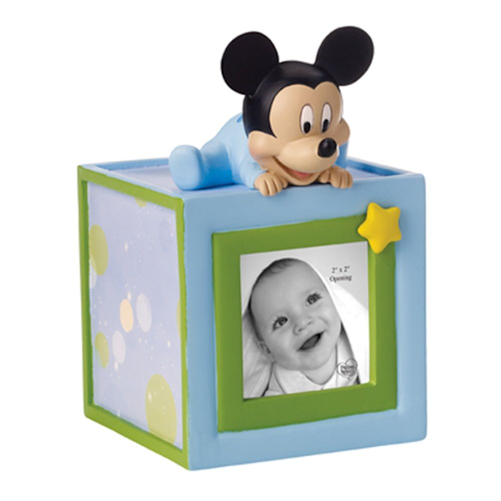Precious Moments 152703 Baby Mickey Mouse Photo Cube Money Bank