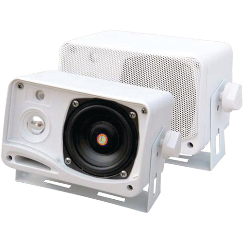 "Pyle PLRM24 3.5"" 200W 3-Way Weatherproof Mini-Box Speaker System"