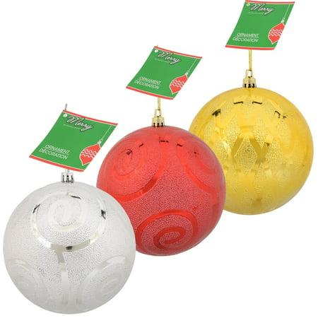 Jumbo Christmas Ornaments (Christmas House Jumbo Etched Polystyrene)