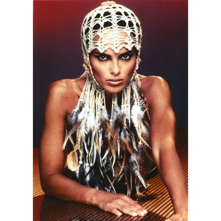 Shari Belafonte posed in Feathery Dress Photo Print - Feathery Dresses