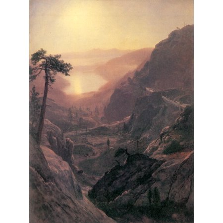 Framed Art for Your Wall Bierstadt, Albert - Look at the Donner Lake, California 10 x 13 - Donner Lake California