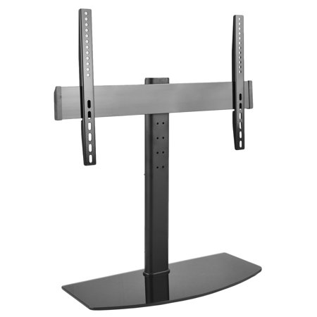 Vivo Universal Lcd Flat Screen Tv Table Top Stand Mount W  Glass Base   For 32  To 55  T V   Stand Tv00l
