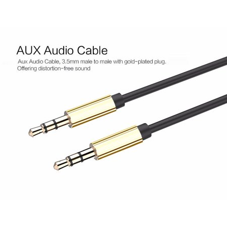 10ft 3.5mm Male to Male Gold-Plated Auxiliary Audio Stereo Cable AUX Cord Long