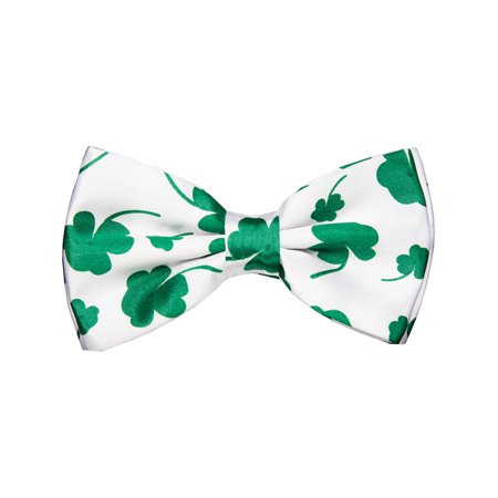 Adults Saint Patrick's Day 4 Leaf Clover Bow Tie Costume Accessory - Halloween Four Leaf Clover