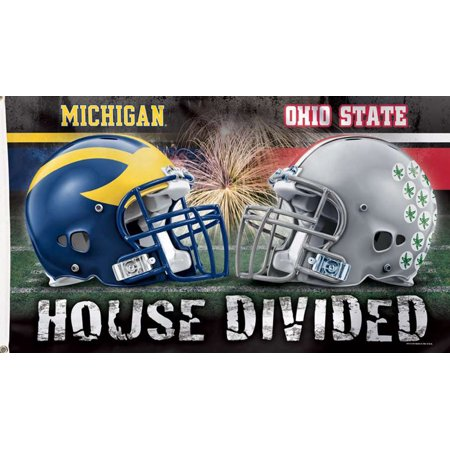 Michigan & Ohio State NCAA House Divided Grommet Flag Deluxe Licensed  3
