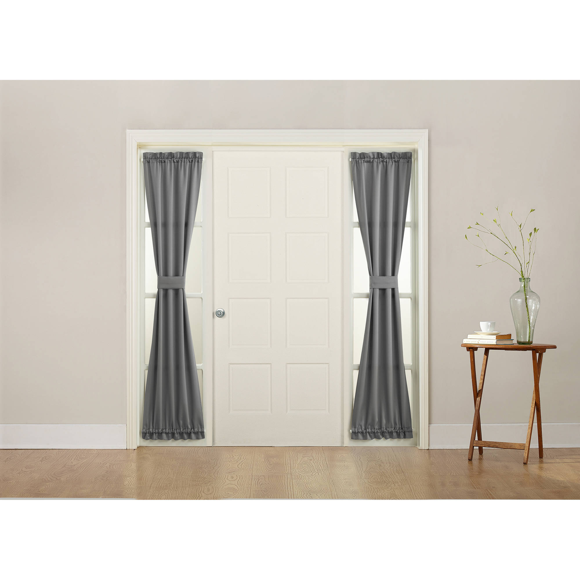 Front door sidelight curtains - Sun Zero Bartlett Energy Efficient Side Light Door Curtain Panel Walmart Com