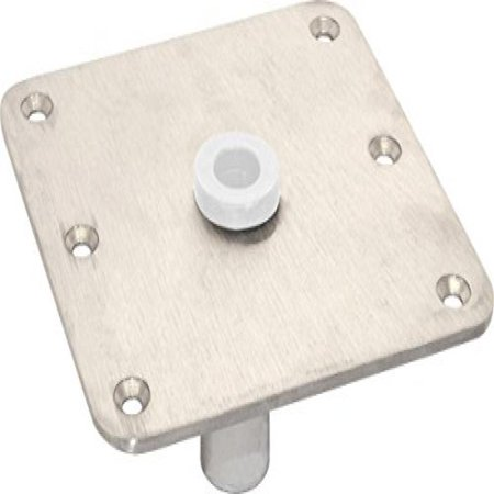Shoreline Marine Boat Seat Base 7 x 7in, Brushed Stainless Steel