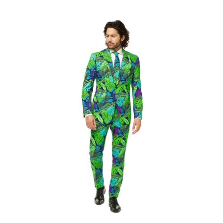 OppoSuits Men's Juicy Jungle Plant Suit - Homemade Jungle Costumes