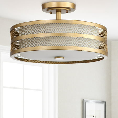 Safavieh Greta 3 Light 15.75 in. Dia. Veil Semi Flush