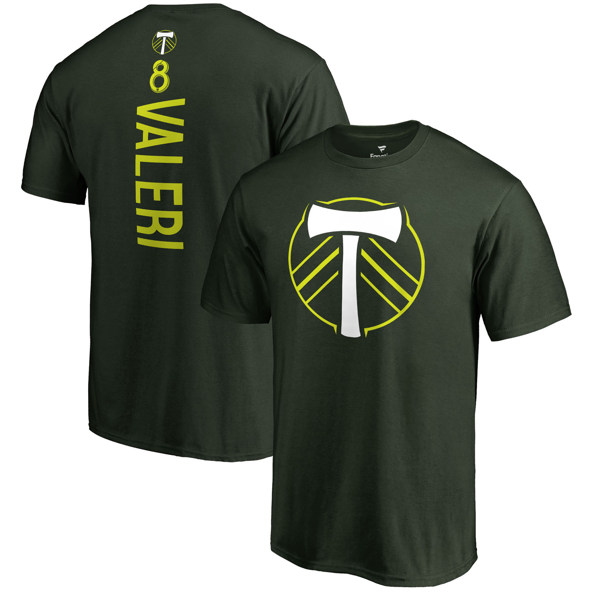 Diego Valeri Portland Timbers Fanatics Branded Backer Name & Number T-Shirt - Green