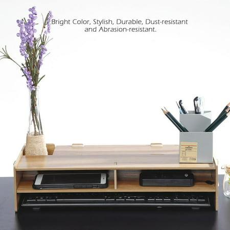 Heighten Shelf Rack Shelf Stand Holder for Display Screen Keyboard Base Bracket Wooden Desktop, Keyboard Base Bracket, Computer Screen Riser