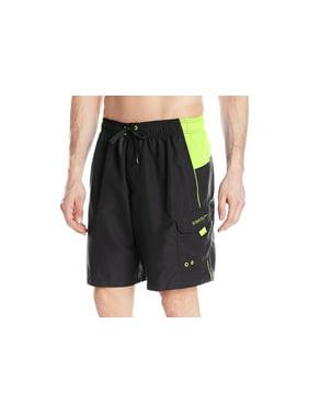 934cf8c497 Product Image Speedo NEW Black Mens Size Small S Athletic Colorblock Swim  Trunks