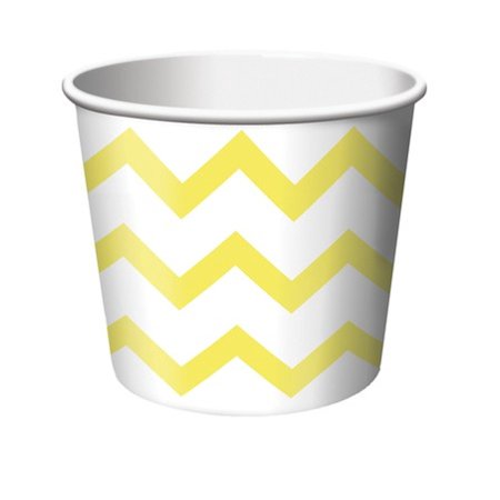Christmas Treats For School (Club Pack of 144 School Bus Yellow and White Chevron Stripe Paper Party Treat Cups 8)