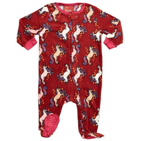 3aa700628 Leveret - Leveret Fleece Footed Pajama Sleeper Unicorn 6-12 Months ...