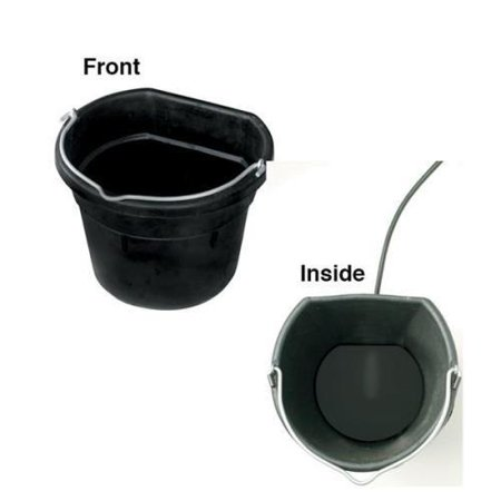 - Farm Innovators Rubber Heated Flat Back Bucket