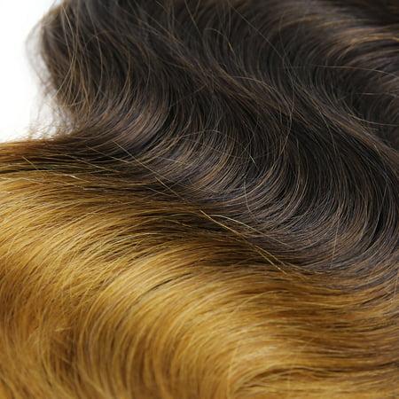 "Human Hair Body Wave 18"" 7A Black Blonde Ombre Brazilian Virgin Hair 1 Bundle - image 3 de 4"