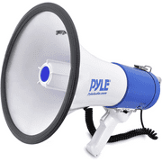 Pyle Megaphone Speaker PA Bullhorn with Built-in Siren - 50 Watts Adjustable Volume Control and 1200 Yard Range - Ideal for Football, Baseball, Basketball Cheerleading Fans & Coaches o