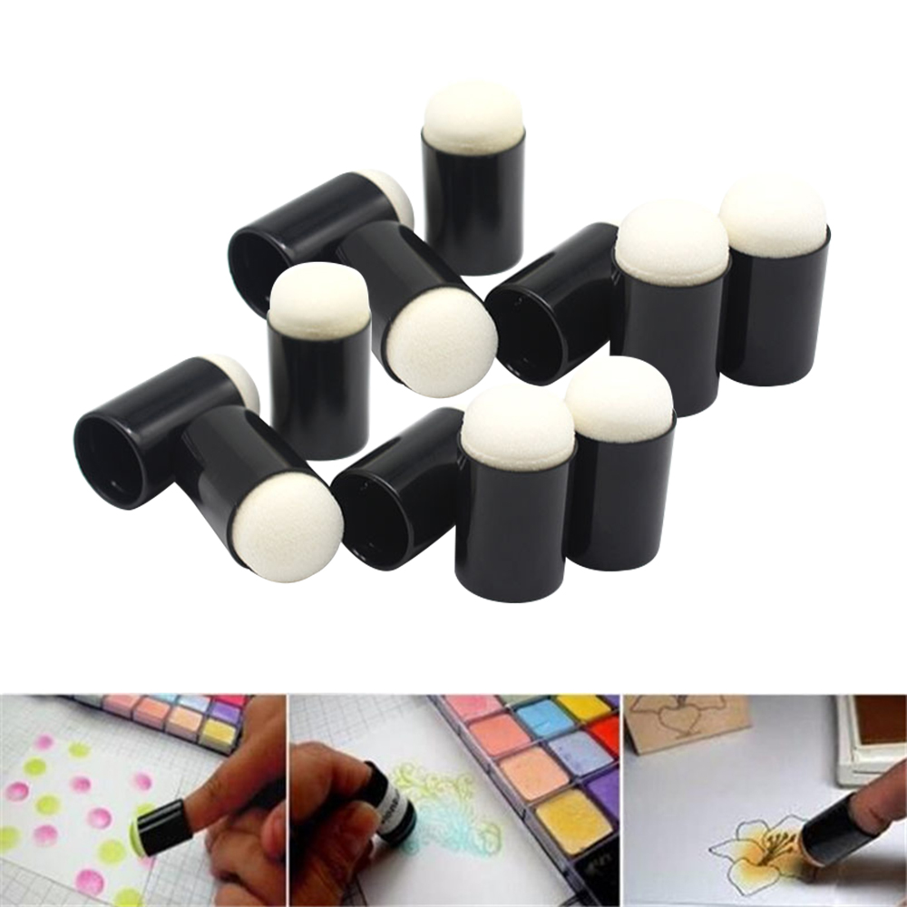 Craft Finger Sponge Daubers with Newly Designed Storage Case for Card Making Painting Drawing Chalk , Pack of 40