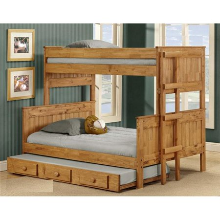 Chelsea Home Furniture 31gin4019 Twin Over Full Stackable Bunk Bed With Trundle 44 Ginger