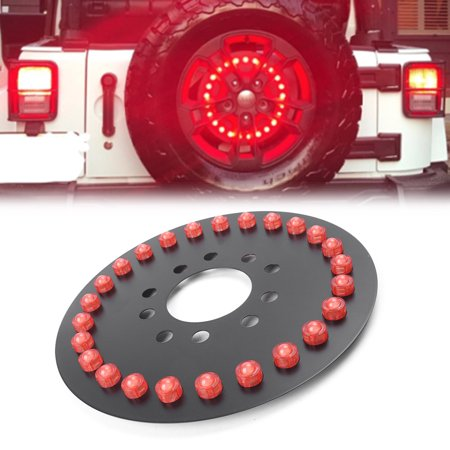 GZYF 12.5 inch Spare Tire LED 3rd Brake Light For Jeep Wrangler JK JKU 07-16 Models 2007-2016 off-road jeep wrangler /W16