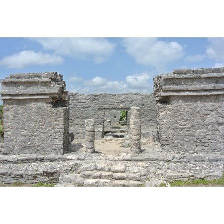Peel-n-Stick Poster of Ruins Mexico Tulum Archaeology Stone Civilization Poster 24x16 Adhesive Sticker Poster Print