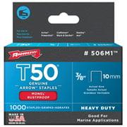 "Arrow Fastener Co. 506M1 3/8"" T50 Monel Staples"