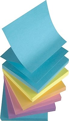 staples stickies pop up sticky notes 3x3 6 pads of 100 sheets per