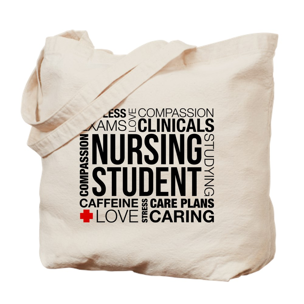 d890e07b177d CafePress - Nursing Student Word Cloud - Natural Canvas Tote Bag ...