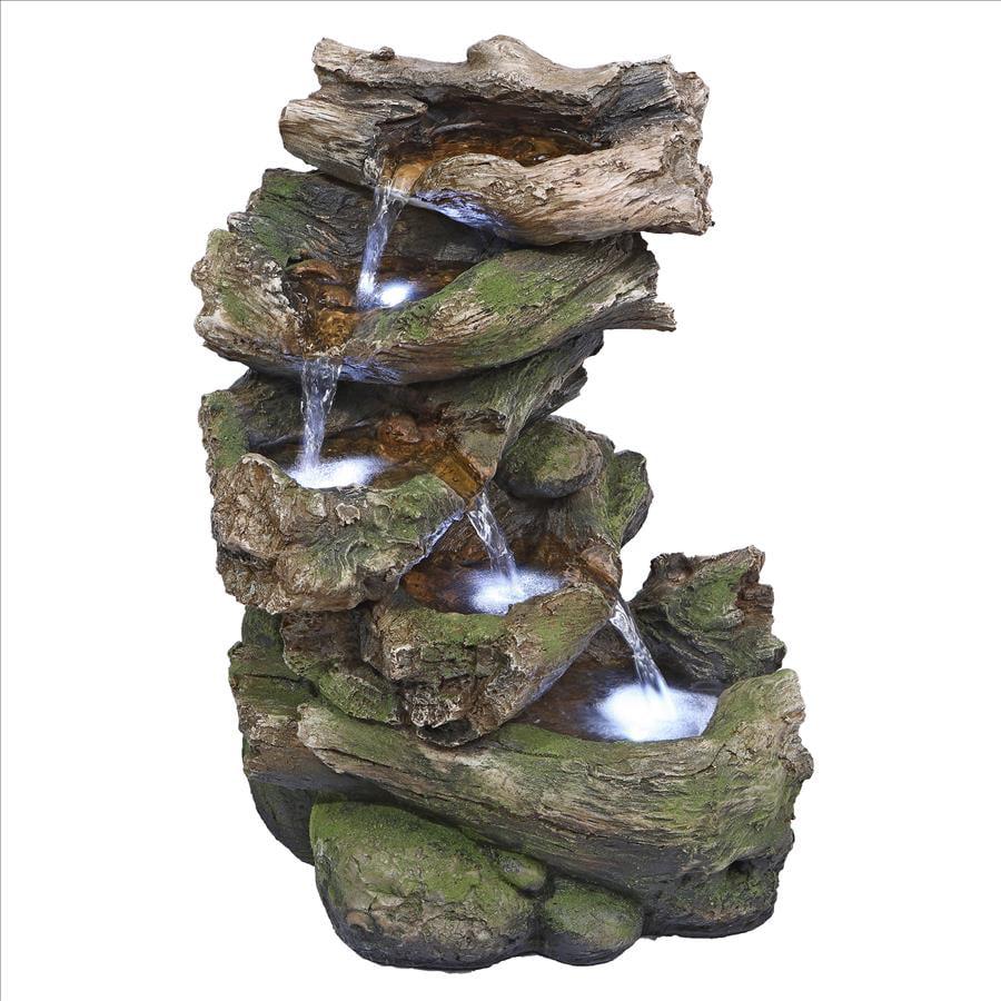 Mesquite Falls Illuminated Garden Fountain by Design Toscano