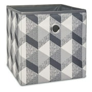 """Mainstays Collapsible Fabric Cube Storage Bins (10.5"""" x 10.5""""), 4 Pack, 3D Geo"""