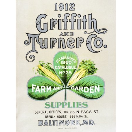 Historic Griffith and Turner Co farm and garden supply catalog from early 20th century - Co Catalog