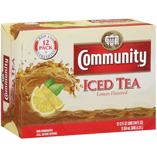 Community Lemon Flavored Iced Tea, 12 oz, 12ct