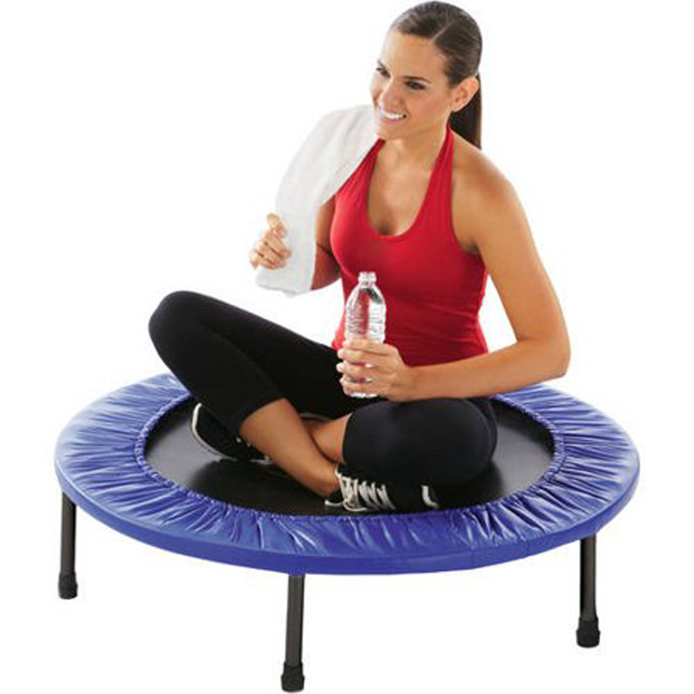 Ktaxon 38-Inch Exercise Mini Round Trampoline Gray/Blue