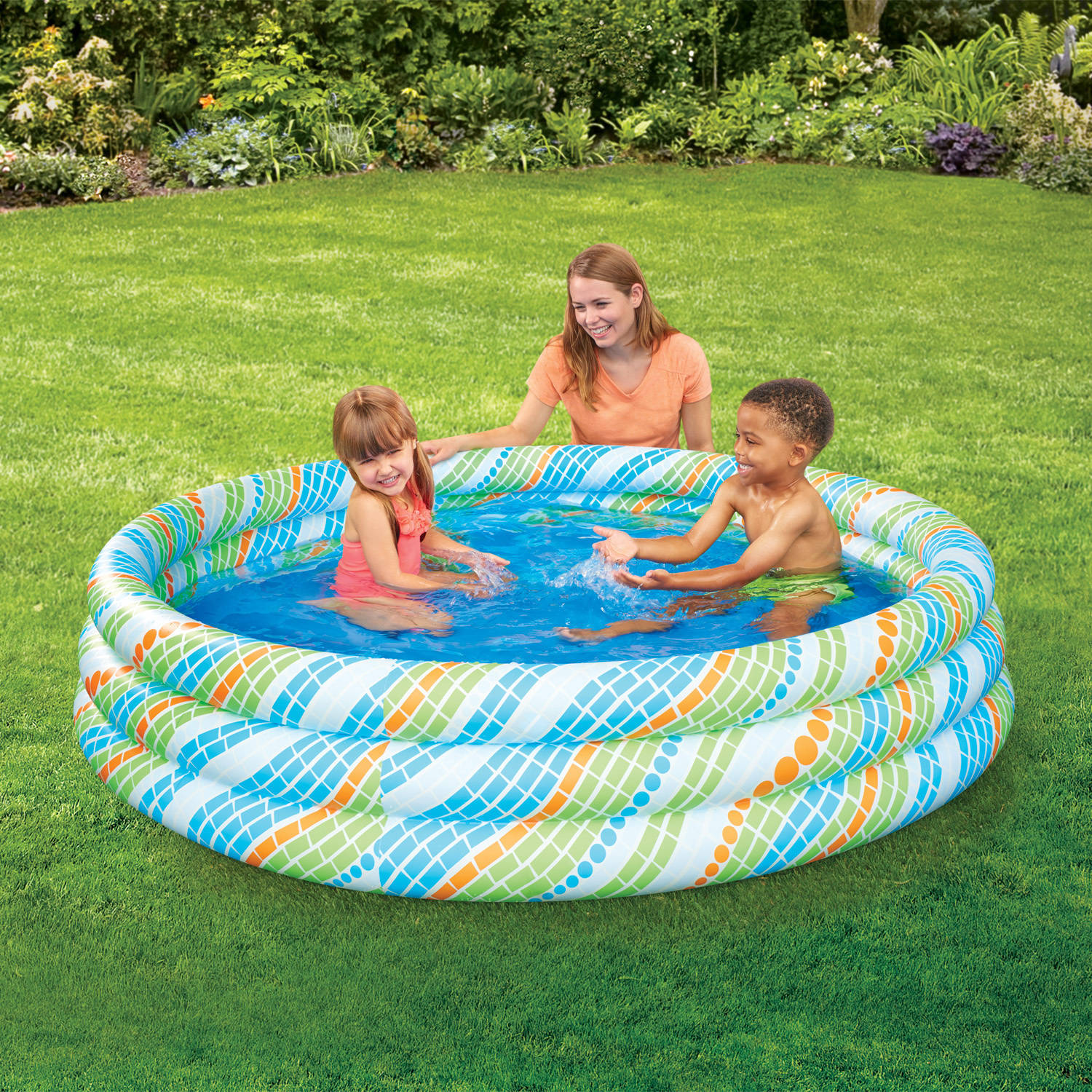 Elegant 3 Ring Inflatable Pool