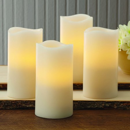 Better Homes And Gardens Flameless Led Pillar Candles 4