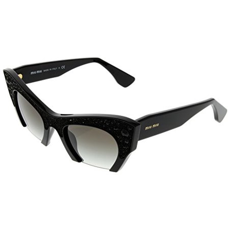 7e226a801e2 Miu Miu - Miu Miu Sunglasses Women Black Semi Rimless Cat Eye MU02QS 1AB0A7  Size  Lens  Bridge  Temple  50-22-145 - Walmart.com