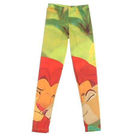Disney The Lion King Simba And Nala Leggings Size : X-Large [Apparel]
