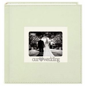 Pioneer 3-D Applique' Metal Frame Sewn Album-Our Wedding