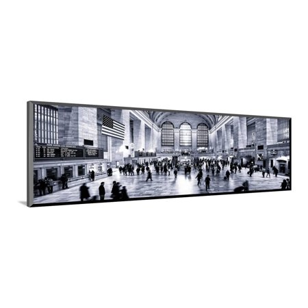 Grand Central Terminal Manhattan (Panoramic View - Grand Central Terminal at 42nd Street and Park Avenue in Midtown Manhattan Wood Mounted Print Wall Art By Philippe Hugonnard )