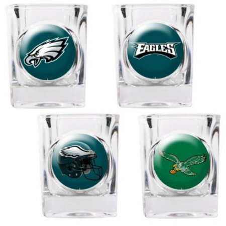 Great American Products Philadelphia Eagles Shot Glass Set 4pc Collectors Shot Glass Set