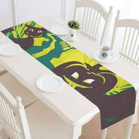 MKHERT Cartoon Halloween Pattern Table Runner for Kitchen Wedding Party Home Decor 14x72 inch