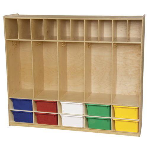 Wood Designs 5 Section Coat Locker
