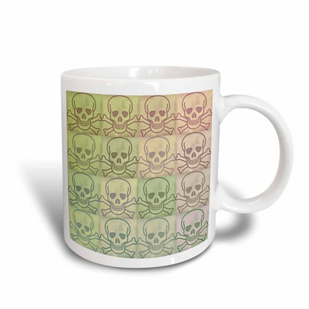 3dRose Skull and Crossbones Collage - Art - Ceramic Mug, 11-ounce](Ceramic Skulls)