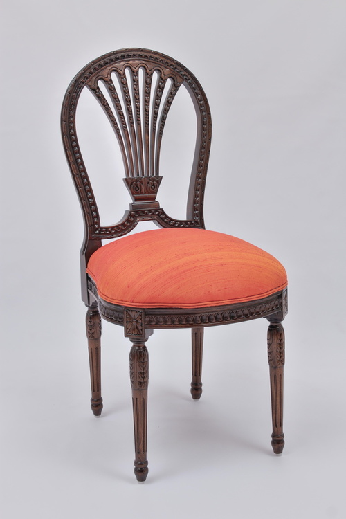 Louis XVI Side Chair With Wheat Back