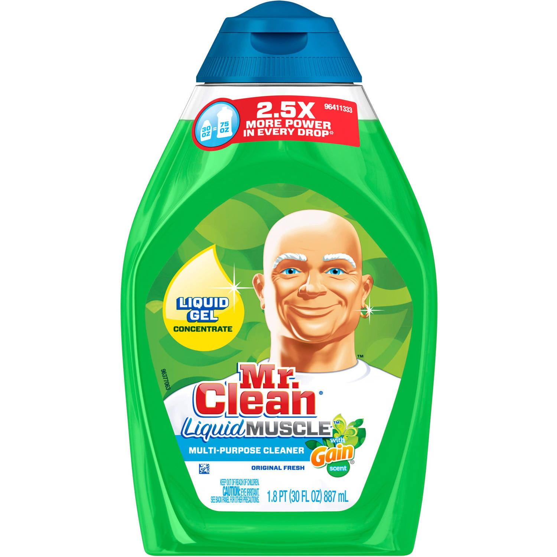 Mr Clean with Gain Original Fresh Scent Liquid Muscle Multi-Purpose Cleaner, 30 oz