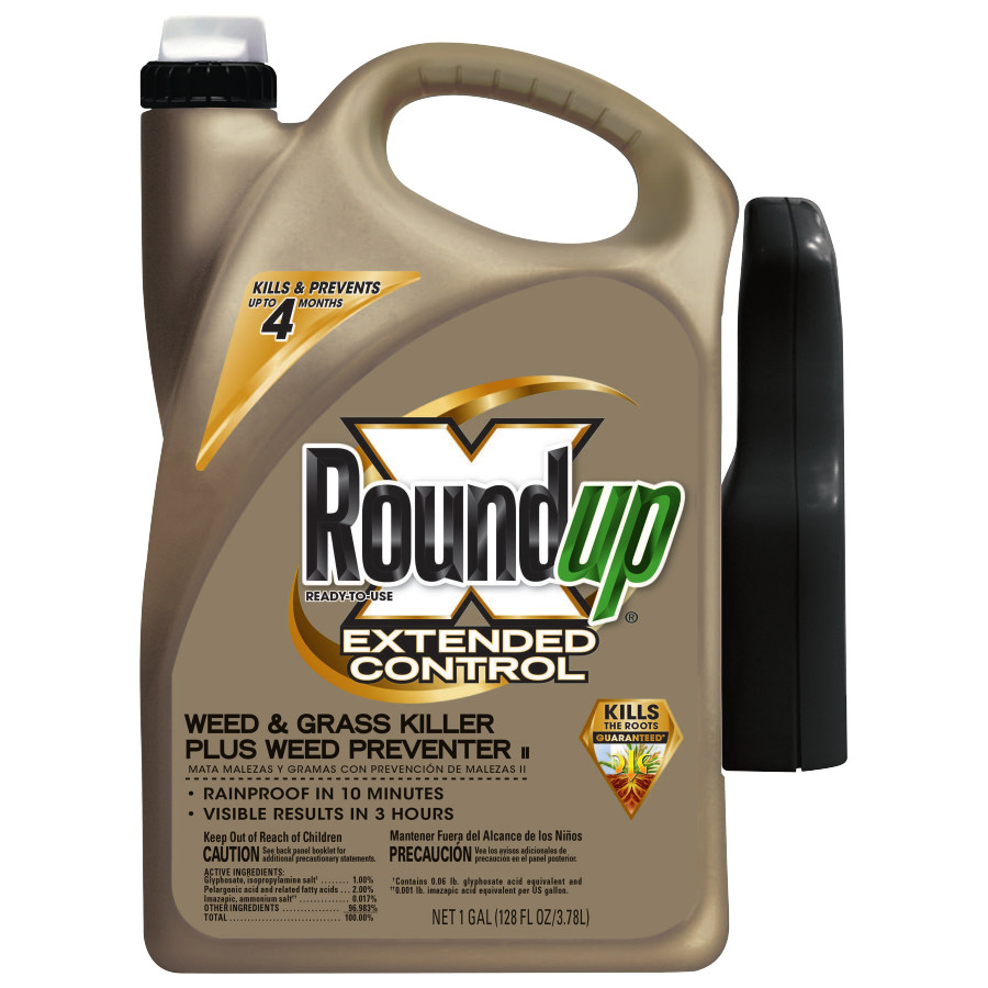 Roundup Extended Control Weed & Grass Killer Plus Weed Preventer II Trigger Ready-To-Use 1 gal