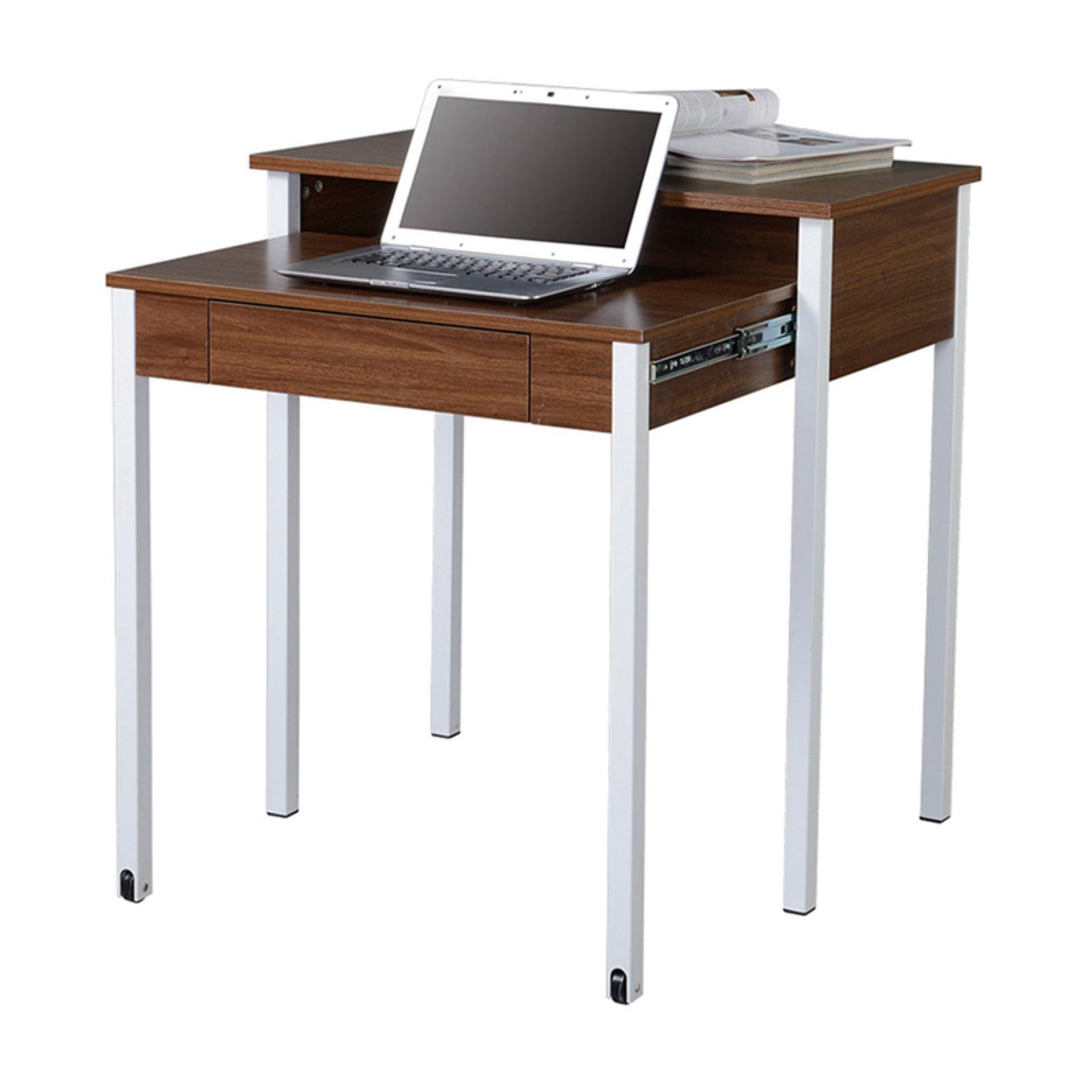 Techni Mobili Retractable Writing Desk with Storage, Walnut (RTA-1459-WAL)
